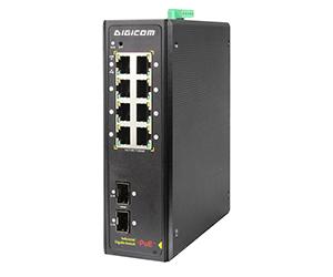 DG-IPS33108PF - Неуправляемый гигабитный коммутатор L2 10 портов с PoE: 8 x 1Гб RJ45 портов с PoE+(30Вт) + 2 Gigabit SFP слота