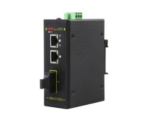 DG-IPS31032P-MC - Медиаконвертер 2 x 10/100M с RJ45 (PoE)+ + 1 x 100M (многомод) SC