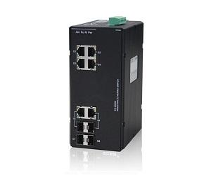 DG-IES-2508M - Управляемый 8-ми портовый коммутатор L2: 2 x 1GB SFP + 6 x 1GB RJ45