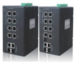 DG-IES-2210MP - Управляемый 10-ти портовый коммутатор L2 с PoE: 2 Gigabit combo SFP/RJ45 + 8х10/100M RJ45 с PoE (30 Вт)