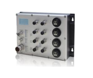 DG-IES-EN2212M - Защищенный 12-ти портовый управляемый коммутатор L2: 8 х 100M с M12 + 4 х 1000M FX (SM/MM) с SC/ST/FC