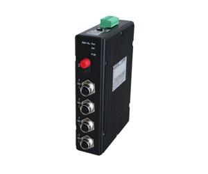 DG-IMC-EN2505M - Защищенный 5-ти портовый управляемый медиаконвертер: 1 x 1000M FX + 4 x 10/100/1000M M12, IP40