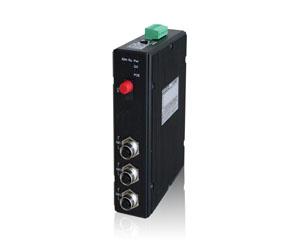 DG-IMC-EN2504M - Защищенный 4-х портовый управляемый медиаконвертер: 1 x 1000M FX + 3 x 10/100/1000M M12, IP40