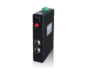 DG-IMC-EN2503M - Защищенный 3-х портовый управляемый медиаконвертер: 1 x 1000M FX + 2 x 10/100/1000M M12, IP40