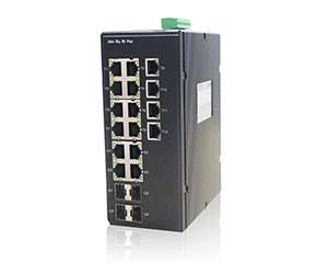 DG-IES-2216M - Управляемый промышленный коммутатор L2 16 портов: 4 Gigabit combo+12 10/100M RJ45