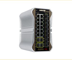 DG-IPS33248PFM - Управляемый 24-x портовый коммутатор L2+ с PoE : 12 х 10/100/1000M RJ45 (1-8 порты  ..