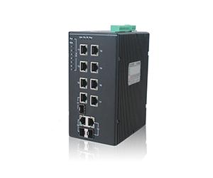 DG-IES-1210P - Неуправляемый 10-ти портовый коммутатор с PoE: 2 x 1000M Combo + 8  x 100M