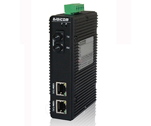 DG-IMC-1003 - Медиаконвертер промышленный 2 x 10/100M с RJ45 + 1 x 100M