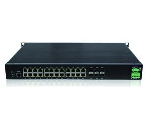 DG-IES-4526MPR - Управляемый промышленный коммутатор L2 26 портов: 4 Gigabit Combo + 2 Gigabit  SFP + 20 10/100/1000M TX  RJ45 c PoE