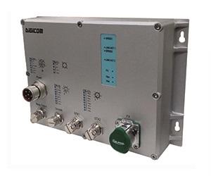 DG-IES-EN2503M - Защищенный 3-х портовый управляемый коммутатор L2: 2 х 1000M с M12 + 1 х 1000M FX (SM) с LC