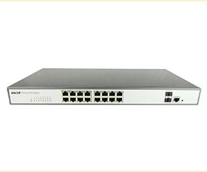 DG-33018FM - Управляемый коммутатор L2+ 20 портов: 16 x 10/100/1000M RJ45 + 2 x 1G uplink SFP