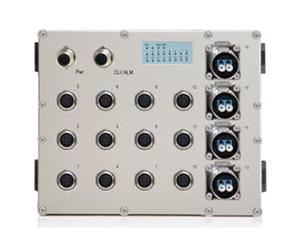 DG-IES-EN2516M - Защищенный 16-ти портовый управляемый коммутатор L2+: 12 х 1000M с M12 + 4 х 1000M FX (SM/MM) с LC