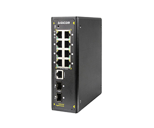DG-IPS33108FM - Управляемый коммутатор L2+ 10 портов : 8 x 10/100/1000M RJ45 портов +  2 Gigabit uplink SFP слота