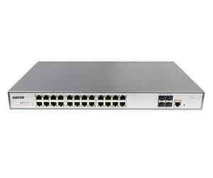 DG-36028FM - Управляемый коммутатор L2+ 28 портов: 24x 10/100/1000M RJ45 + 4x 1/10G SFP+ слота