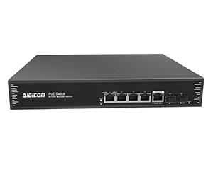 DG-31064PFM - Управляемый PoE коммутатор 6 портов L2+: 4x 10/100M RJ45 с PoE+(30 Вт) + 2x 100/1000M uplink SFP
